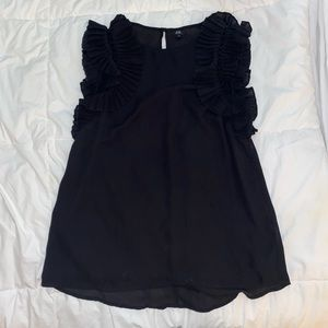 Black River Island blouse - elegant sleeve detail